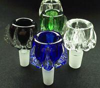 14mm Dragon Claw Glass Bowl - Green Blue Black Clear