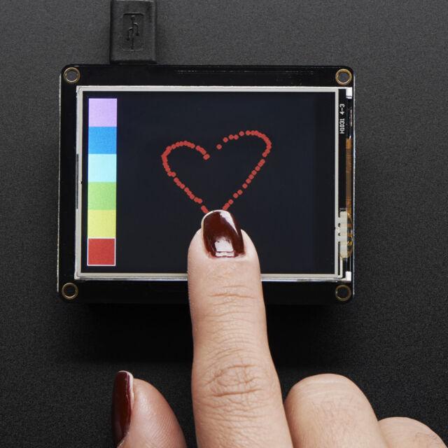 "Adafruit TFT FeatherWing, 2,4"" 320x240 Touchscreen per tutti Feathers, 3315"