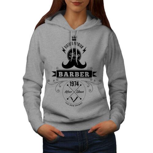 Hippie Casual Hooded Sweatshirt Wellcoda Barber Shop Womens Hoodie
