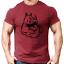 Rhino Muscles Gym T-Shirt Mens Gym ClothingWorkout Training Bodybuilding Top