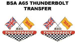 Le Meilleur Bsa A65 Éclair Panneau Latéral Transferts Stickers Vendu Comme Paire D50029