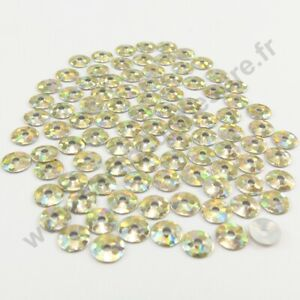 4mm 3mm Sequin strass thermocollant rond hotfix BLEU 5mm