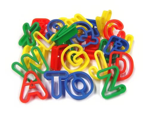 26 plastique jeu pâte cookie cutters majuscule lettres majuscules a-z MB 9001-26