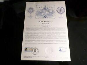 FRANCE-1988-DOCUMENT-OFFICIEL-FDC-BOUGAINVILLE-BATEAUX-CELEBRITE-VF