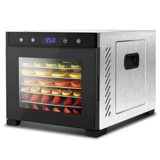 NutriChef NCDH6S Electric Counter top Food Dehydrator Machine-600-Watt Premium