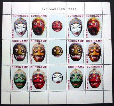 Surinam 2013 Masken Masks Folklore Brauchtum Kleinbogen Postfrisch MNH