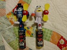 NEW IN PACKAGE! LOT OF 2 MARS M&M CANDIES HALLOWEEN CANDY DISPENSER FANS