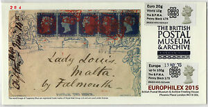 BPMA-EUROPHILEX-PENNY-BLACK-175th-Post-amp-Go-SPECIAL-FDC-LIMITED-300-SOLD-OUT