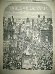 TABLEAU-DE-PARIS-MONUMENTS-ARCS-DE-TRIOMPHE-ARTICLE-DE-GEORGE-SAND-GRAVURES-1852