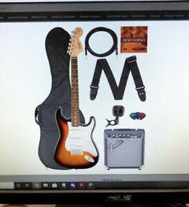 Fender Squier Affinity Stratocaster - Brown Sunburst Bundle w/ Frontman 10G Amp