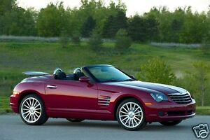 Image Is Loading 2008 Chrysler Crossfire Convertible Deep Red Refrigerator Magnet