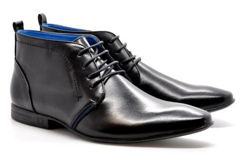 Nouveau Homme Aspect Cuir Lacets-Up Robe formelle Cheville Chaussure//Boot UK 6-11