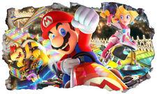 Mario Kart 8 Wall Smash Crack Self Adhesive Wall Sticker Decal Print Poster