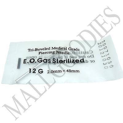 T002 Sterilized Body Piercing Hollow Needles 18G Gauge 1mm PICK YOUR QTY