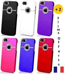 Coque-etui-housse-034-Chrome-Case-luxe-034-pour-Iphone-5-2-films-protecteurs-offerts