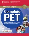 Complete Pet Student's Book Without Answers with CD-ROM and Testbank by Emma Heyderman, Peter May (Mixed media product, 2016)