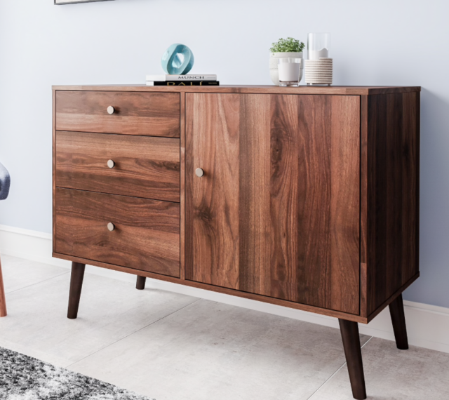 Merveilleux Mid Century Buffet Sideboard Credenza Furniture Dining Area Cabinet