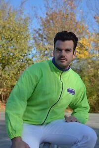 Adidas-chaqueta-tiempo-libre-chaqueta-lluvia-chaqueta-nylon-Neon-Windbreaker-True-vintage-80s