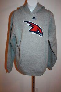 New Atlanta Hawks YOUTH Sizes S-L (8-14/16) Adidas Gray Hoodie