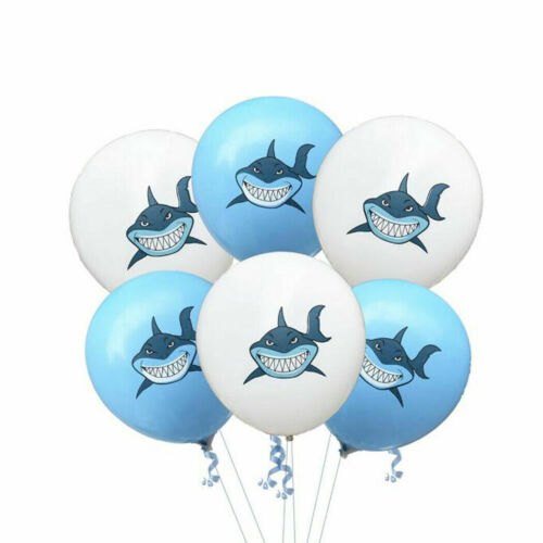 Baby Shark Blue Shark Latex Balloons 12 inch Set of Balloons Party Balloons