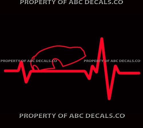 VRS HEART BEAT LINE TUNER STREET Racing Dodge Neon SRT-4 NOS CAR VINYL DECAL
