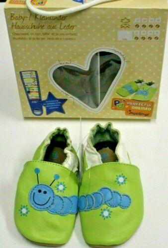 Baby Krabbelschuhe Kinderhausschuhe Kleinkinder Hausschuhe aus Leder.