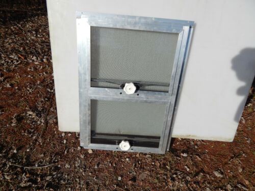 """RV Trailer Shed Window Awning 17/""""X25 3//8/"""" Alum Frame Safety Glass New #8"""