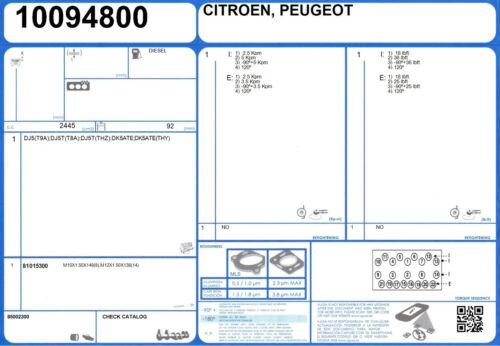 Cylinder Head Gasket Set Citroen XM TD 2.4 130 DK5ATE TA 5//1994-10//2000