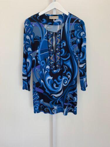 36rm80 gioiello taglia in blu Emilio viscosa Pucci Tunica 10 multicolor KvqPq0f