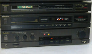 Vintage-Technics-stereo-amplifier-tuner-and-CD-player