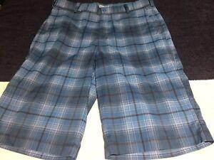 48b9148ce414 Nike Golf Tour Performance Dri-Fit Plaid Men s Shorts Blue Size 30 ...