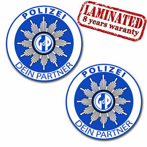 aufkleber polizei partner auto sticker gewerkschaft autostern strafzettel z 70 ebay. Black Bedroom Furniture Sets. Home Design Ideas