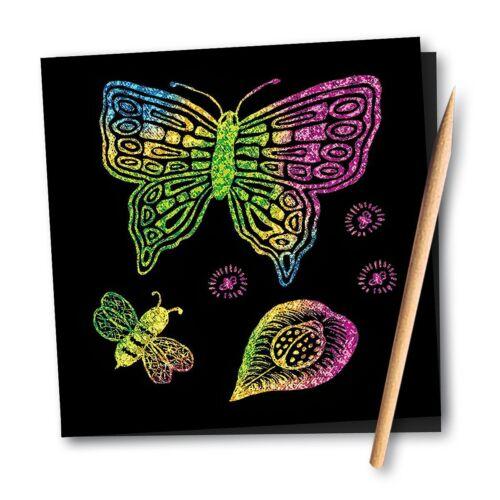Melissa /& Doug Scratch Art Doodle Pad 16 Scratch-Art Boards Wooden Stylus 15947
