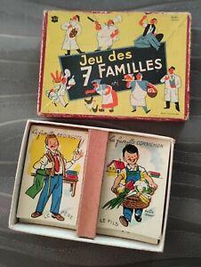 Très ancien JEU DES 7 FAMILLES - JFJ Paris - illustrations Hella ARNO -en boite