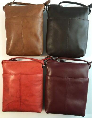 Lava Red Brown Fine Wine ILI Genuine Leather Mini Crossbody In Antique Saddle