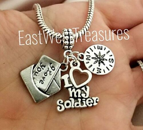 Army mom wife girl,Love my solider No matter where pendant for Bracelet necklace
