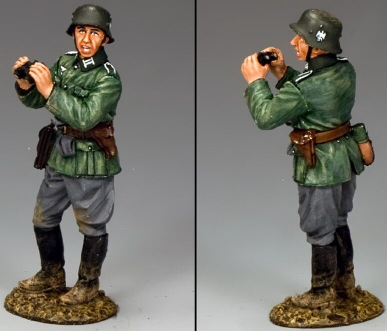 KING & COUNTRY WW2 GERMAN ARMY WH040 OFFICER WITH BINOCULARS MIB