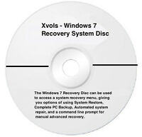 Laptop Windows 7 System Recovery Disk Boot CD 64 bit