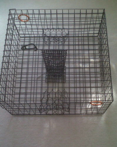 Commercial Grade heavy Duty Crab Pot Trap 24 X 24 X 12