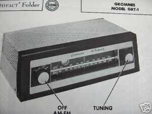 GROMMES-GRT-1-TUNER-RECEIVER-PHOTOFACTS-PHOTOFACT