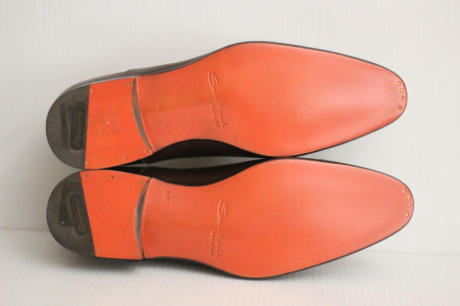 NEW Santoni Santoni Santoni 'Stafford' Cap Toe Oxford - Dark Brown - Size 9.5 EE   798 (R29) 056cd1