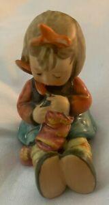 "Goebel Hummel Vintage Figurine ""Knit One Purl One"" #432 Germany TMK 6 Super Nice"