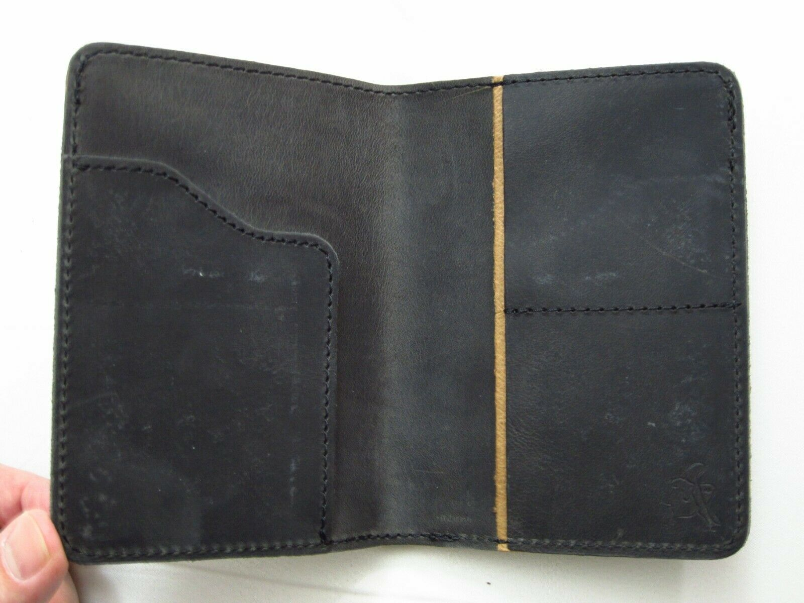 Saddleback Leather PASSPORT WALLET Dusty Carbon Black Script Logo