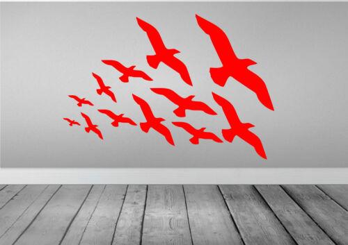 Flock Of Flying Birds Wall Stickers Art Decal Decor Bedroom Kitchen Bathroom