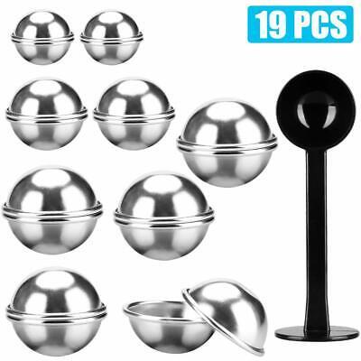 12PCS Metal Bath Bomb Mold 3 Sizes DIY Aluminum Alloy Balls Mold Tool for Homemade Bath Bombs Gift