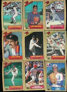 Details About 1987 Topps Baseball Complete Set 1 792