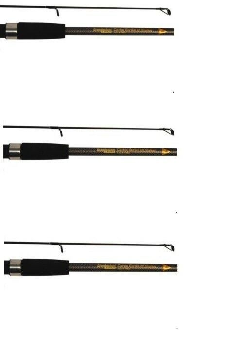 3 X 8ft q-dos Stalker 2 Piece Carp Rods  In  Bags 2Lb Test Curve Fishing