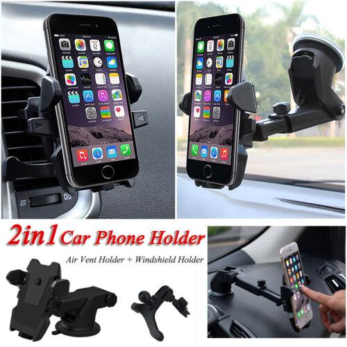 1 of 1 - Universal 360° Rotation Car Windshield Mount Holder Cradle For Mobile Phone GPS