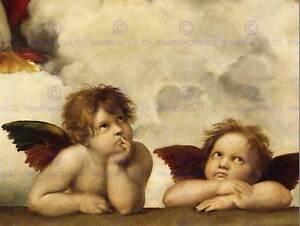 RAPHAEL SISTINE MADONNA GROUP OF ANGELS OLD MASTER ART PAINTING PRINT 2609OM