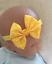 UK SELLER Baby Girl Polka Dot Spotty Bow Headband Elasticated Pink Blue Yellow